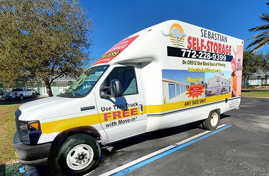 Sebastian Self Storage Truck