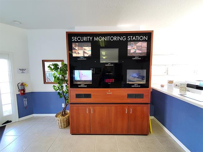 Video surveillance console